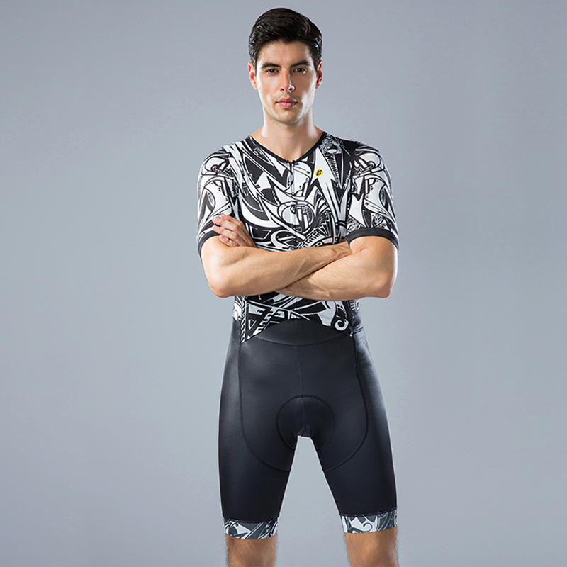 Custom High End Men Cycling Skinsuits short sleeves BQ005