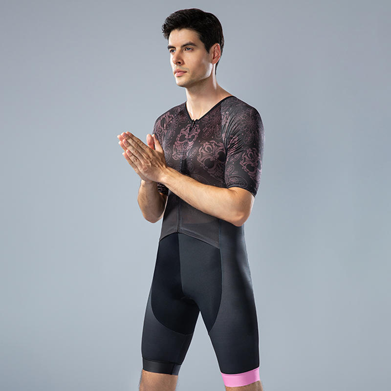 Men's short sleeves custom cycling Tri suits BQ003
