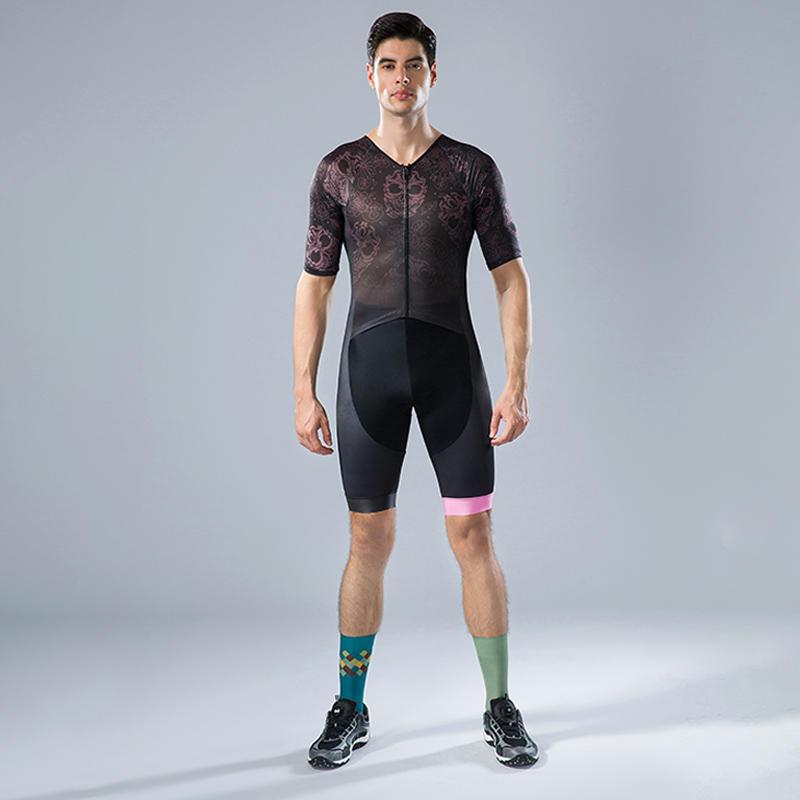 Men's short sleeves custom cycling Tri suits BQ003