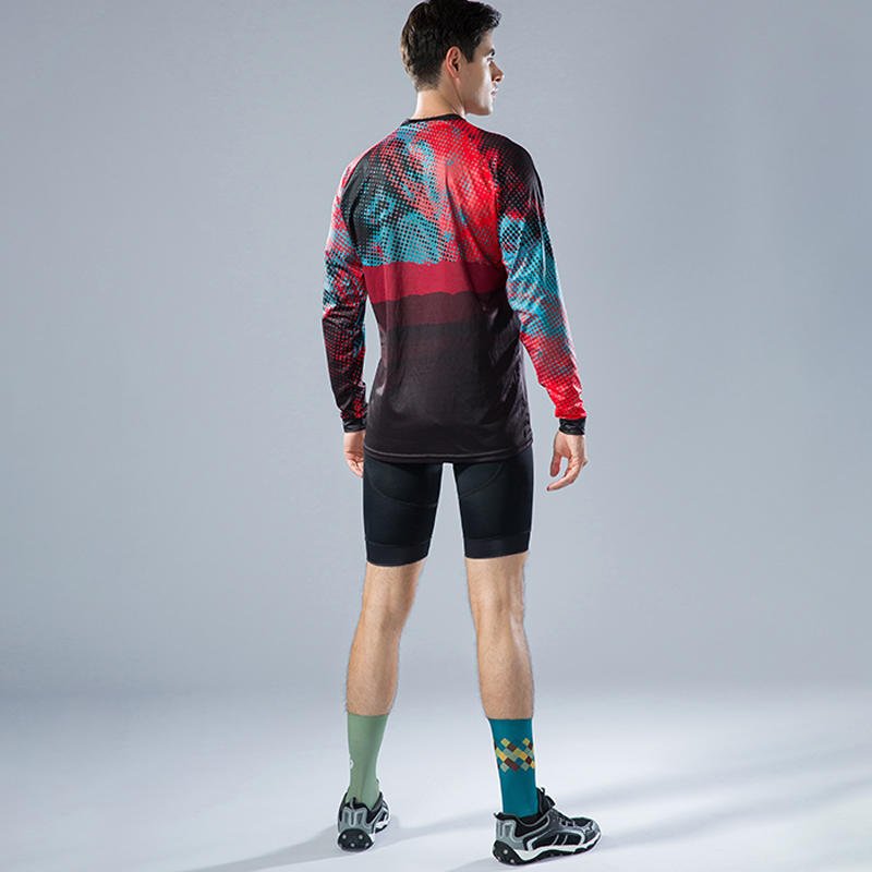 Custom MTB bike men long sleeves cycling jersey downhill race BQ001