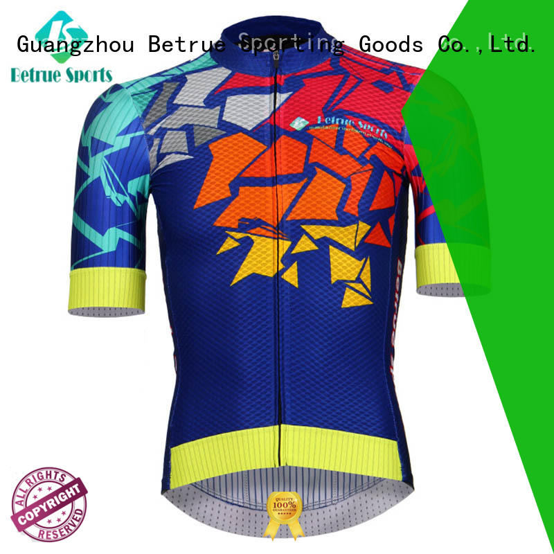 Betrue flowers cycling mens jerseys manufacturer for men