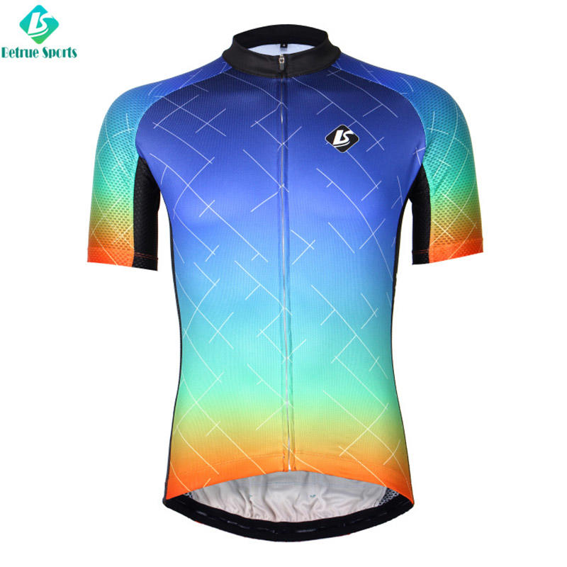 Colorful Men Cycling Jersey custom BQ0017-5