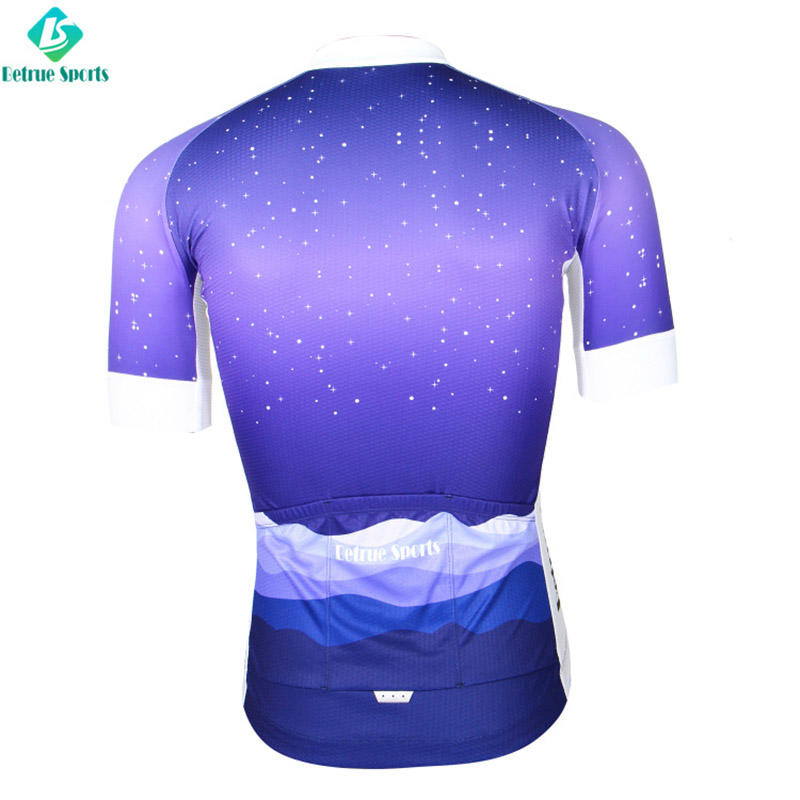 Snowy night Men Cycling Jersey BQ0001-1