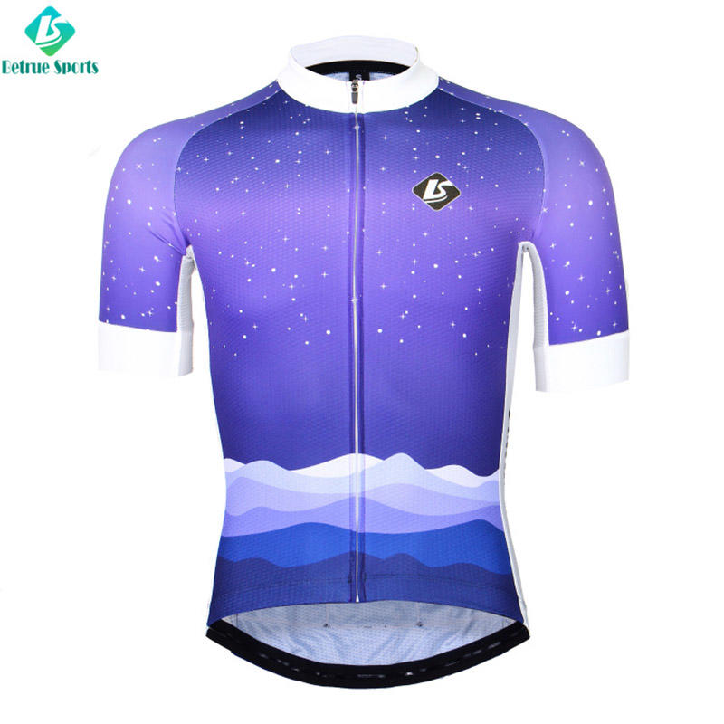 winter road mens cycling jersey flowers Betrue Brand
