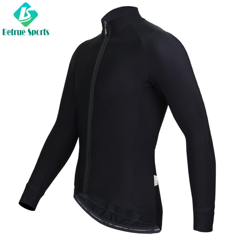 Winter Men Black Fleece long sleeve Cycling Jersey High End BQ0085