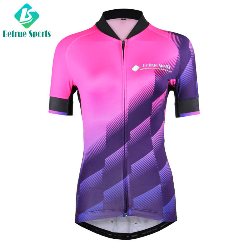 Fashion Gradient cycling jersey for ladies BQ0006-1