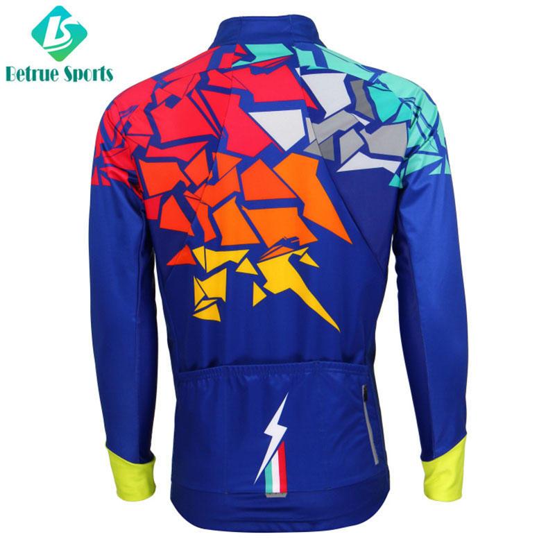 Men Top Italian fleece Cycling Windproof Jacket BQ0085J
