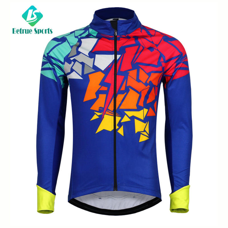 Men Top Italian fleece Cycling Windproof Jacket BQ0085J