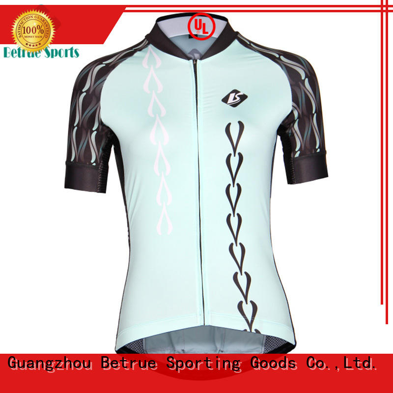 Custom womens cycling jersey blue manufacturers for sport