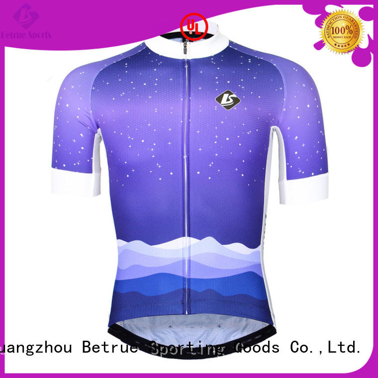 Betrue snowy cool mens cycling jerseys customized for sport