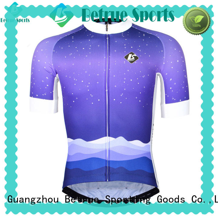 Betrue snowy mens bicycle jerseys customized for sport