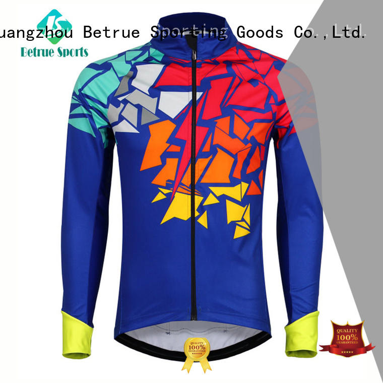 Betrue long mens waterproof cycling jacket wholesale for sport