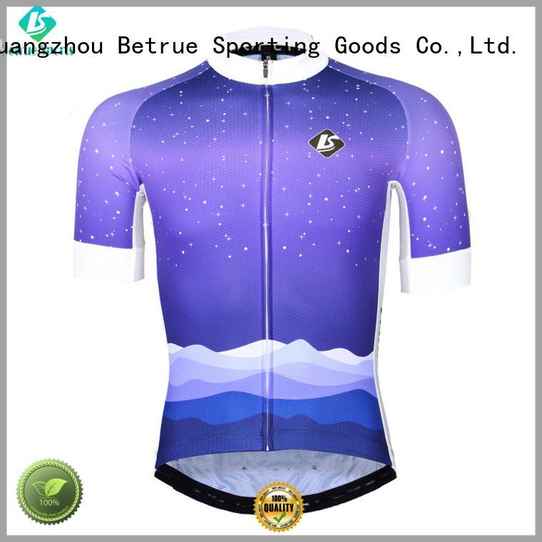 Betrue night mens short sleeve cycling jersey light for bike