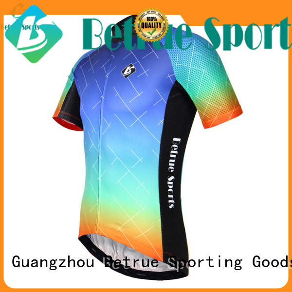 colorful road Betrue Brand long sleeve cycling jersey factory