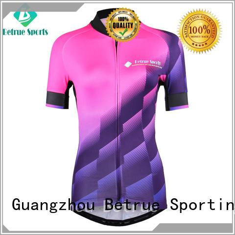 bq00061 gradient corrugated Betrue Brand custom cycling jersey