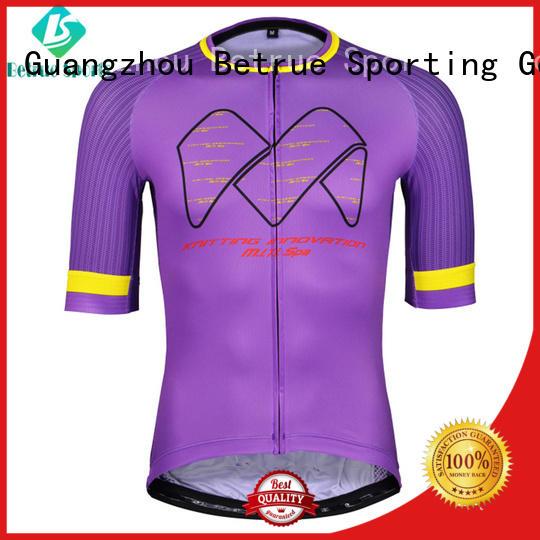 Betrue Brand road purple custom long sleeve cycling jersey