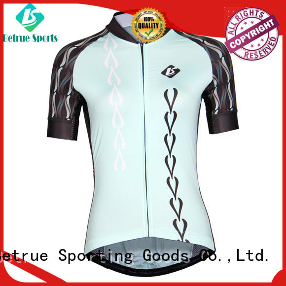 Latest custom cycling jersey blue factory for sport