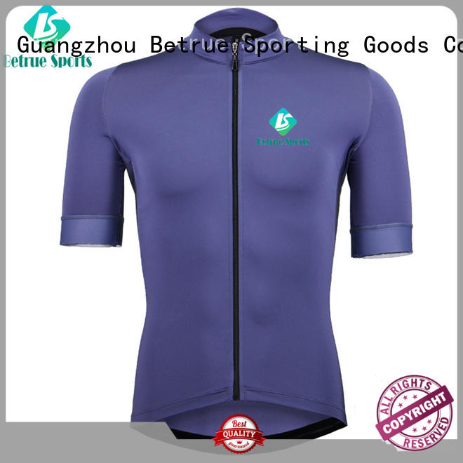 black long sleeve cycling jersey eggplant for bike Betrue