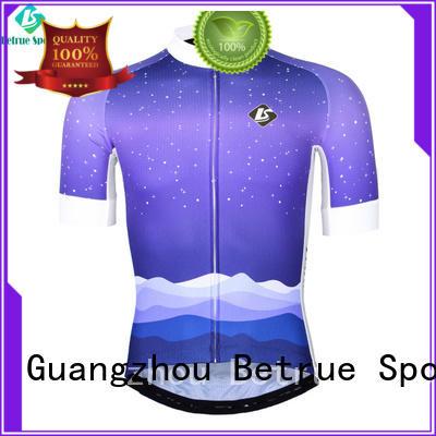 snowy purple mens cycling jersey Betrue Brand