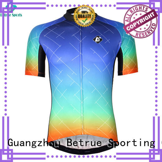 Betrue night cool mens cycling jerseys customized for sport