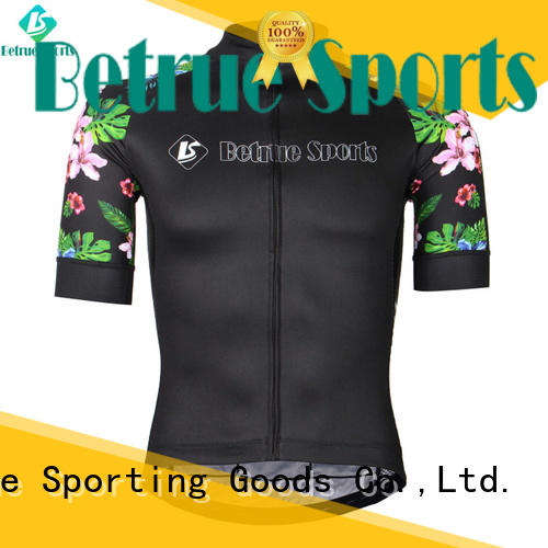 Betrue black retro cycling jerseys wholesale for women