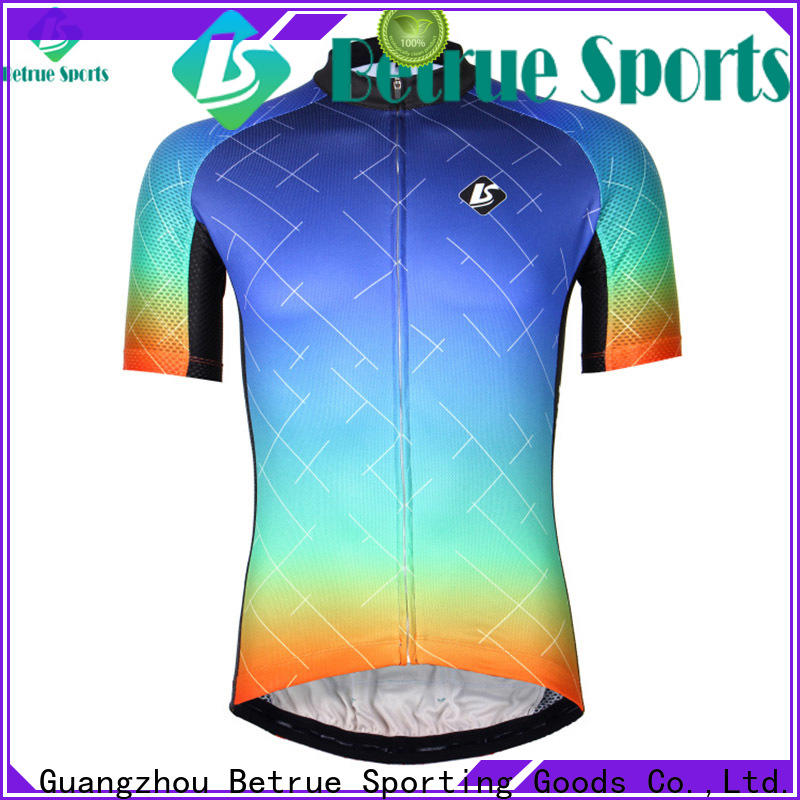 Betrue Wholesale mens road bike jerseys company for sport