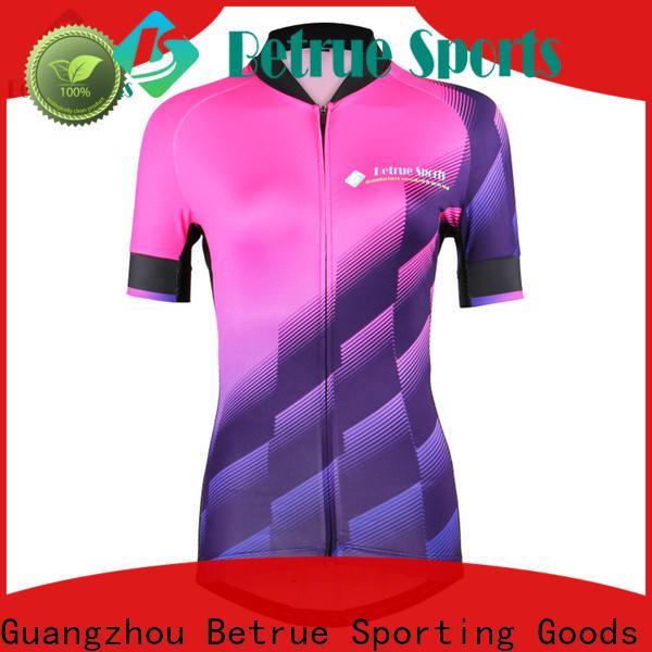 Betrue blue womens bike jersey manufacturers for women