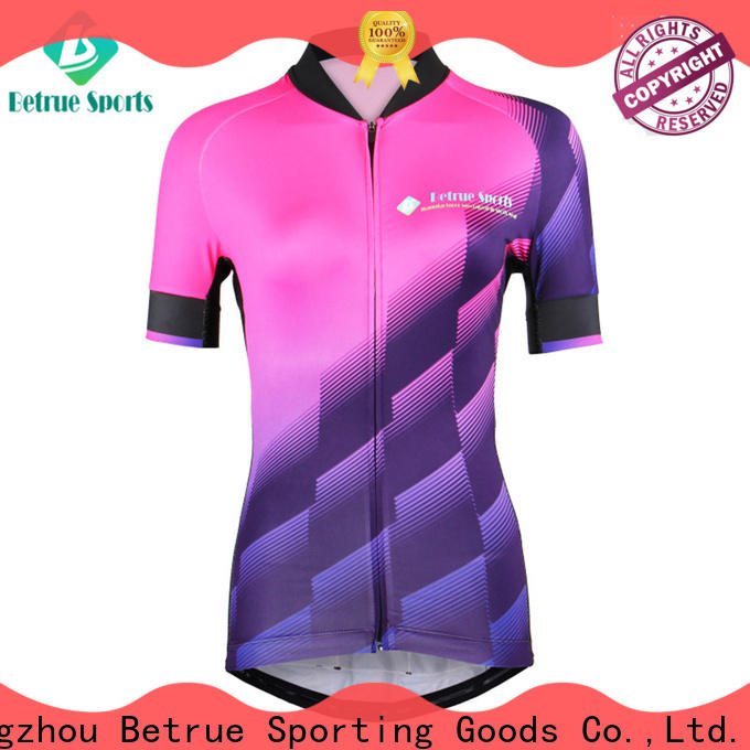 Betrue corrugated custom cycling jersey Suppliers for sport